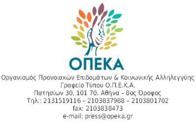 Νωρίτερα οι πληρωμές των προνοιακών προγραμμάτων  του ΟΠΕΚΑ λόγω Πάσχα