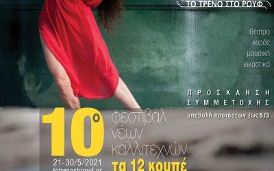 10o Φεστιβάλ Νέων Καλλιτεχνών «Τα 12 Κουπέ» – Πρόσκληση συμμετοχής καλλιτεχνών Θεάτρου, Χορού, Μουσικής, Εικαστικών