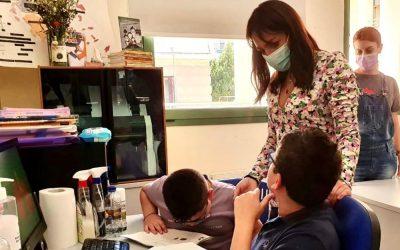 Επίσκεψη της Δόμνας Μιχαηλίδου στο Κέντρο Εκπαίδευσης και Αποκατάστασης Τυφλών