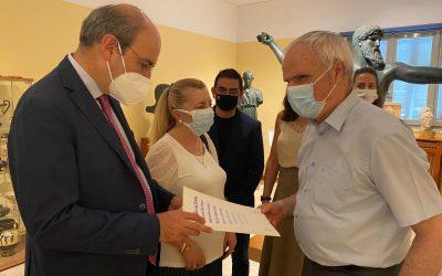 Επίσκεψη υπουργού Εργασίας και Κοινωνικών Υποθέσεων, Κωστή Χατζηδάκη, στο Φάρο Τυφλών